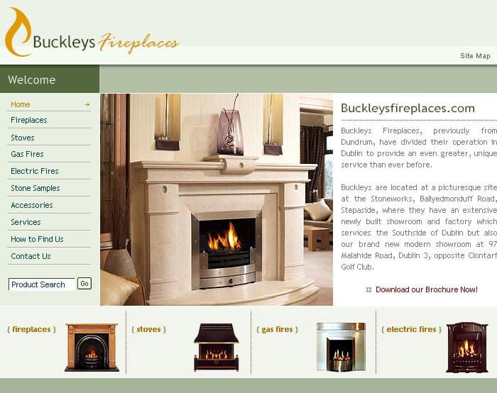 buckleyfireplaces.ie Website