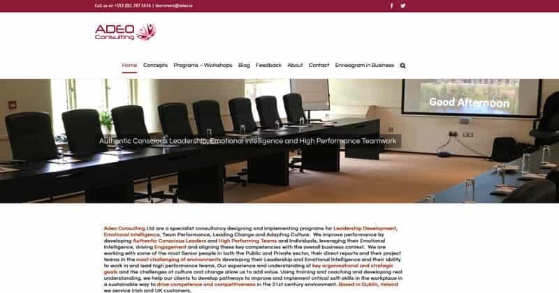 adeo.ie Website