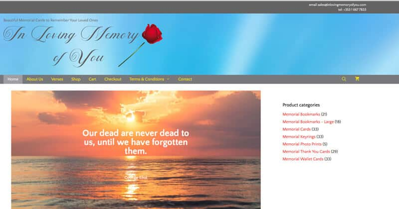 In Loving Memory of You Site