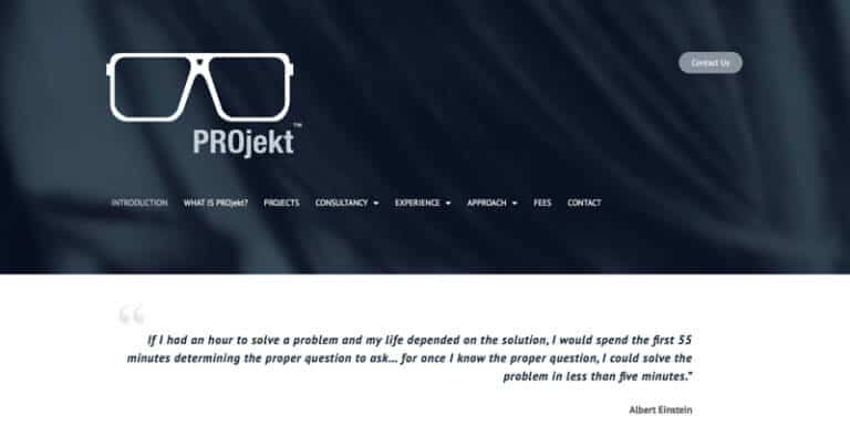 PROjekt Home Page