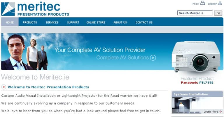 Meritec AV Website