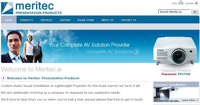meritec.ie Website