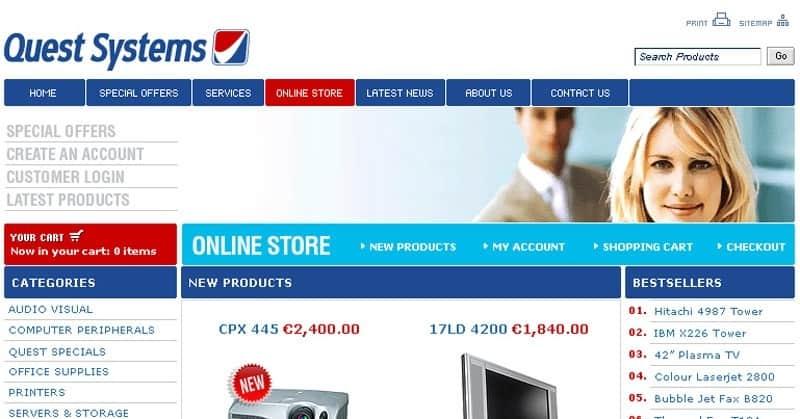 questsystems.ie Website
