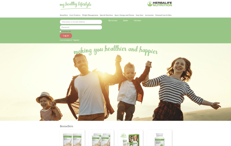 myhealthylifestyle.ie Website